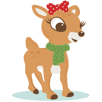red nosed reindeer svg scrapbook cut file cute clipart