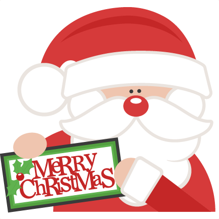 Merry Christmas Santa SVG scrapbook cut file cute clipart files for ...