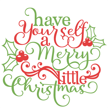 Christmas Phrase Scrapbook Cut File Cute Clipart Files For