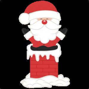 Santa In Chimney SVG scrapbook cut file cute clipart files for silhouette cricut pazzles free svgs free svg cuts cute cut files