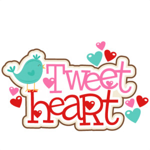 Tweet Heart Title SVG scrapbook cut file cute clipart files for silhouette cricut pazzles free svgs free svg cuts cute cut files