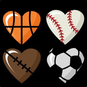 Sports Hearts Set scrapbook cut file cute clipart files for silhouette cricut pazzles free svgs free svg cuts cute cut files