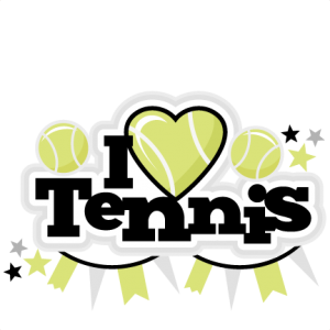 I Heart Tennis Title scrapbook cut file cute clipart files for silhouette cricut pazzles free svgs free svg cuts cute cut files