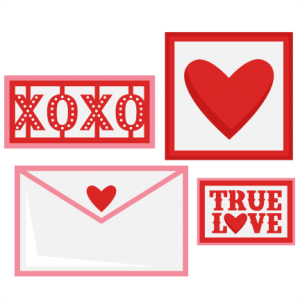 Valentine Love Letter Set SVG scrapbook cut file cute clipart files for silhouette cricut pazzles free svgs free svg cuts cute cut files