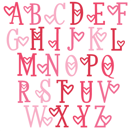 S Alphabet In Heart Heart Alphabet ...