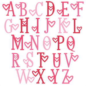 Heart  Alphabet Uppercase SVG scrapbook cut file cute clipart files for silhouette cricut pazzles free svgs free svg cuts cute cut files