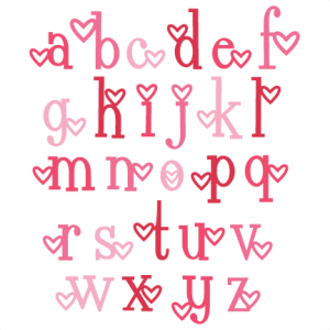 Heart  Alphabet Lowercase SVG scrapbook cut file cute clipart files for silhouette cricut pazzles free svgs free svg cuts cute cut files