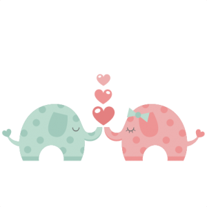 Elephants in Love SVG scrapbook cut file cute clipart files for silhouette cricut pazzles free svgs free svg cuts cute cut files