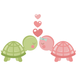 Turtles in Love SVG scrapbook cut file cute clipart files for silhouette cricut pazzles free svgs free svg cuts cute cut files