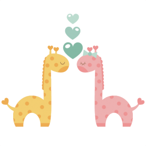 Giraffes in Love SVG scrapbook cut file cute clipart files for silhouette cricut pazzles free svgs free svg cuts cute cut files