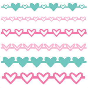 Heart Borders Set SVG scrapbook cut file cute clipart files for silhouette cricut pazzles free svgs free svg cuts cute cut files