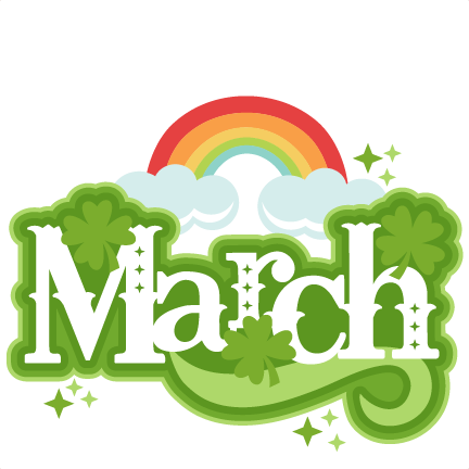 March Title SVG scrapbook cut file cute clipart files for ...