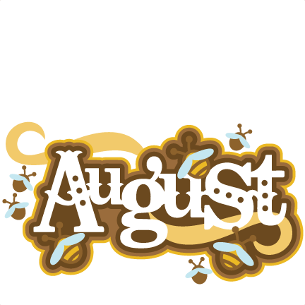 August Title SVG scrapbook cut file cute clipart files for ...