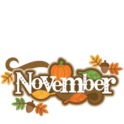 November Title SVG scrapbook cut file cute clipart files ...