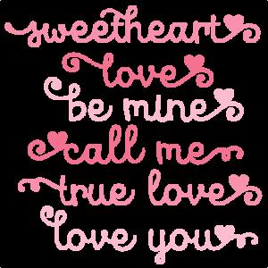 Valentine Phrases SVG scrapbook cut file cute clipart files for silhouette cricut pazzles free svgs free svg cuts cute cut files