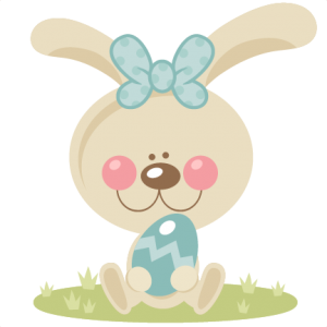 Girl Bunny Holding Egg  SVG scrapbook cut file cute clipart files for silhouette cricut pazzles free svgs free svg cuts cute cut files