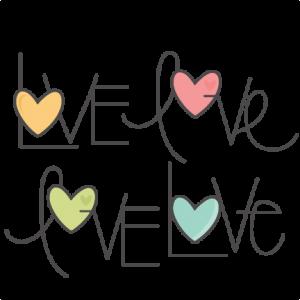 Love Word Set SVG scrapbook cut file cute clipart files for silhouette cricut pazzles free svgs free svg cuts cute cut files