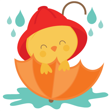 Chick in Umbrella SVG scrapbook cut file cute clipart ...