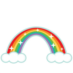 Rainbow SVG scrapbook cut file cute clipart files for ...
