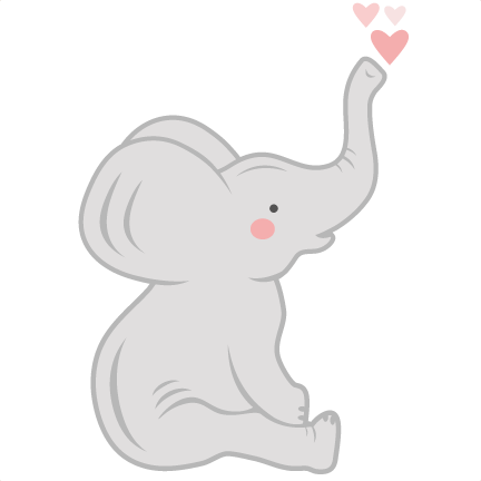 Baby Elephant Cut Out Clip Art
