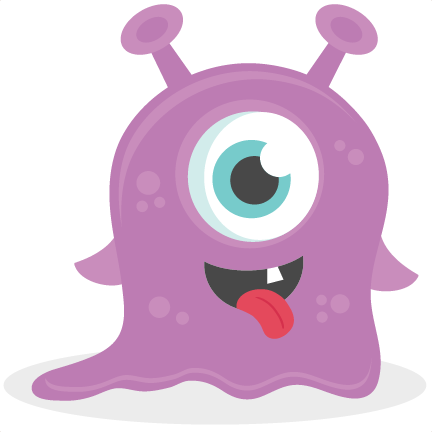 Baby Monster SVG scrapbook cut file cute clipart files for ...