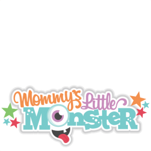 Mommy's Little Monster Title SVG scrapbook cut file cute clipart files for silhouette cricut pazzles free svgs free svg cuts cute cut files