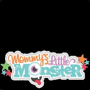 Mommy's Little Monster Title SVG scrapbook cut file cute clipart files for silhouette cricut pazzles free svgs free svg cuts cute cut files