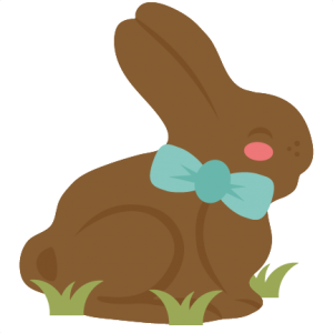 Chocolate Bunny SVG cutting files for cricut silhouette pazzles free svg cuts free svgs cut cute files for scrapbooking