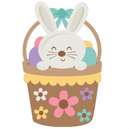 Easter bunny large. In basket svg scrapbook