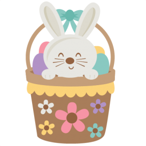 Easter Bunny in Basket SVG scrapbook cut file cute clipart files for silhouette cricut pazzles free svgs free svg cuts cute cut files