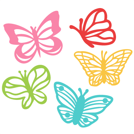 butterfly set svg scrapbook cut file cute clipart files for