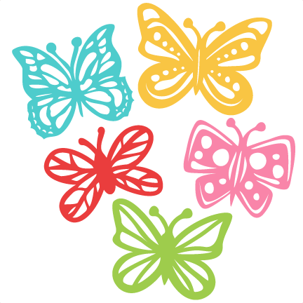 Butterfly Set Svg Scrapbook Cut File Cute Clipart Files