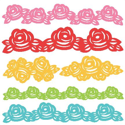 Download Rose Borders SVG scrapbook cut file cute clipart files for ...