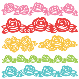 Rose Borders SVG scrapbook cut file cute clipart files for silhouette cricut pazzles free svgs free svg cuts cute cut files
