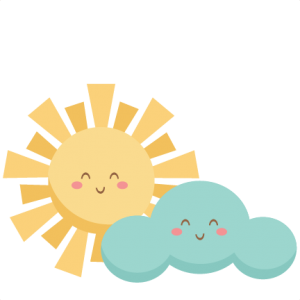 Happy Sun and Cloud SVG scrapbook cut file cute clipart files for silhouette cricut pazzles free svgs free svg cuts cute cut files