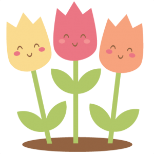 Happy Tulips SVG scrapbook cut file cute clipart files for silhouette cricut pazzles free svgs free svg cuts cute cut files