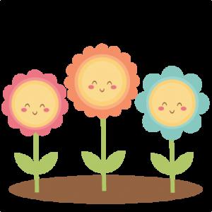 Happy Flowers SVG scrapbook cut file cute clipart files for silhouette cricut pazzles free svgs free svg cuts cute cut files