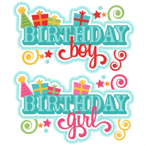 Birthday Titles SVG scrapbook cut file cute clipart files for silhouette cricut pazzles free svgs free svg cuts cute cut files