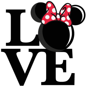 Love Mouse Girl Title SVG scrapbook cut file cute clipart files for silhouette cricut pazzles free svgs free svg cuts cute cut files