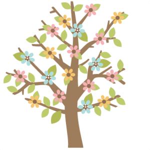 Spring Tree scrapbook cut file cute clipart files for silhouette cricut pazzles free svgs free svg cuts cute cut files