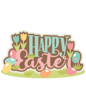 Happy Easter Title SVG scrapbook cut file cute clipart files for silhouette cricut pazzles free svgs free svg cuts cute cut files