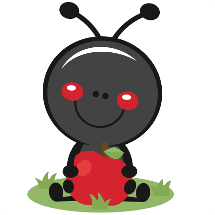 Ant With Apple Svg Scrapbook Cut File Cute Clipart Files