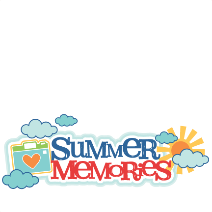 Summer Memories Title SVG scrapbook cut file cute clipart ...