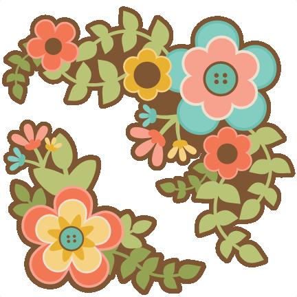 Flower Group Set SVG scrapbook cut file cute clipart files ...