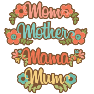 Mom Titles SVG scrapbook cut file cute clipart files for silhouette cricut pazzles free svgs free svg cuts cute cut files