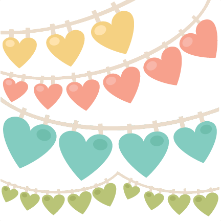 heart swag banners svg scrapbook cut file cute clipart files for