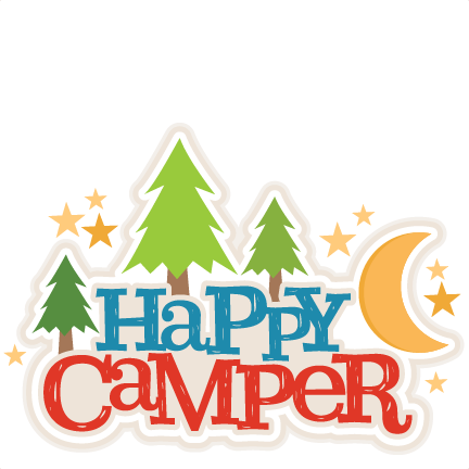 Happy Campers Title SVG Scrapbook Cut File Cute Clipart Files For