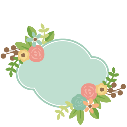 Label With Flowers SVG scrapbook cut file cute clipart ...