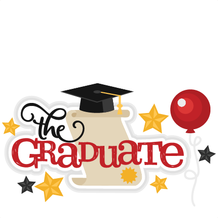 The Graduate Title SVG scrapbook cut file cute clipart ...