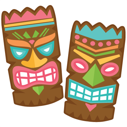 Tiki set svg scrapbook cut file cute clipart files for for Tiki hawaiano